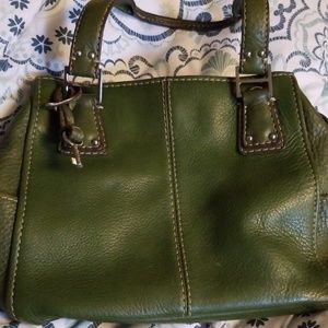 Fossil Olive Green Purse/Satchel Gently Used